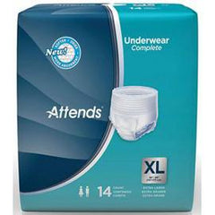 Attends Super Plus Absorbency Protective Underwear with Leakage Barriers, XL (58'¬? to 68'¬?, 210-250 lbs) - One pkg of 14 each - Total Diabetes Supply