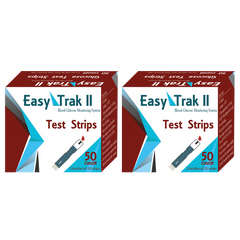 Easy Trak II Glucose Test Strips - 100 ct.