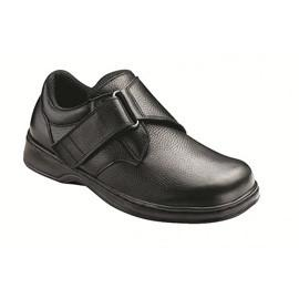 Broadway Men's Comfort - Velcro Strap - Diabetic Shoes - Black - Total Diabetes Supply