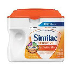 Abbott Nutrition Similac Sensitive EarlyShield Powder 657g SimplePac, Palm Olein-free, Low Osmolality - Each - Total Diabetes Supply