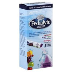 Abbott Nutrition Pedialyte Powder Pack 4-Flavor Variety, 0.3 Oz - Case of 64 packets - Total Diabetes Supply