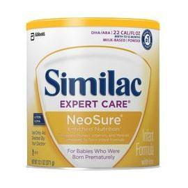 Similac Expert Care NeoSure Infant Formula Drink with Iron 2 oz, Ready-to-Feed, Unflavored - Case of 48 - Total Diabetes Supply