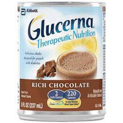 Abbott Nutrition Glucerna Shake Ready-to-Drink Rich Chocolate with Carb Steady 237mL Bottle, Gluten-free - One Each - Total Diabetes Supply