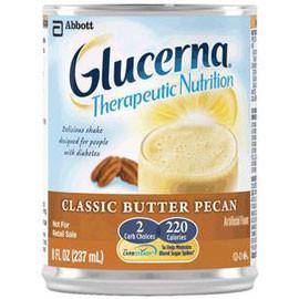 Abbott Nutrition Glucerna Shake Ready-to-Drink Classic Butter Pecan with Carb Steady 237mL Bottle, Gluten-free - One Each - Total Diabetes Supply