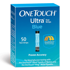 One Touch Ultra Blue Glucose Test Strips - 50 ct.