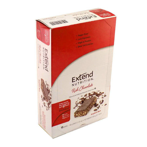 Extend Nutrition Anytime Bar - Rich Chocolate - 15 Pack - Total Diabetes Supply