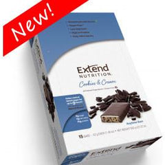 Extend Nutrition Anytime Bar - Cookies & Cream - 15 Pack - Total Diabetes Supply