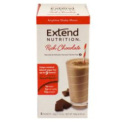 Extend Nutrition Anytime Shake Mixes - Rich Chocolate - 5 Pack - Total Diabetes Supply