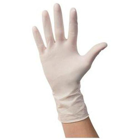 Positive Touch Non-sterile Latex Exam Gloves, Medium - 100/box