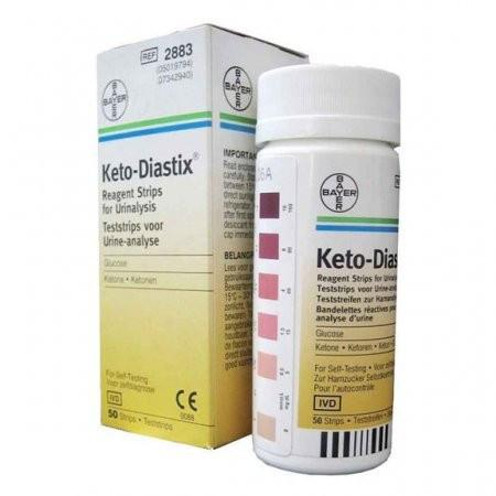 Bayer Keto-Diastix Reagent Strip - 50 ct. - Total Diabetes Supply