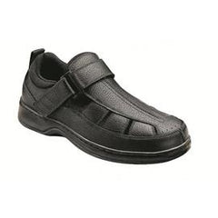 Melbourne men's Fisherman - Hook-and-loop Closure Strap - Diabetic Shoes - Black - Total Diabetes Supply