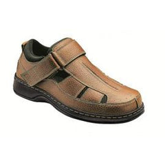 Melbourne men's Fisherman - Hook-and-loop Closure Strap - Diabetic Shoes - Brown - Total Diabetes Supply