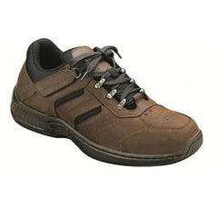 Shreveport Men's Hiking Sneakers - Tie-less Lace - Diabetic Shoes - Brown - Total Diabetes Supply