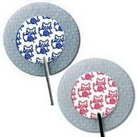 "Kendall Healthcare Kittycat Pre-wired Electrode, 24"" L, 1"" Round - Case of 300 - Total Diabetes Supply"