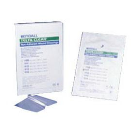 "Kendall Healthcare Telfa Pre-Cut Clear Wound Contact Layer Dressing 4"" L x 5"" W Square Shape, Sterile, Nonadherent (25 pcs. per box) - Total Diabetes Supply"