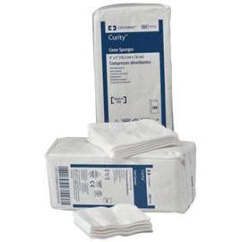 "Curity Nonsterile Cover Sponge 3"" L x 3"" W, Non Woven Cellulose Wadding Filled Sponge - Bag of 100 - Total Diabetes Supply"