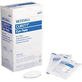 "Kendall Healthcare Curity Eye Pad, 1-5/8"" W x 2-5/8"" L, Oval Shape - Box of 50 - Total Diabetes Supply"