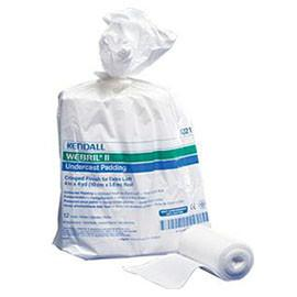 "Kendall Healthcare WEBRIL II Undercast Padding 4"" W x 4yds. L Nonsterile, Crimped Finish, Adherent - Bag of 12 - Total Diabetes Supply"
