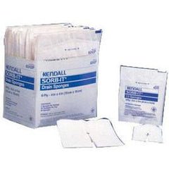 "Kendall Healthcare Sorb-IT Sterile IV Sponge, 2s, Pre-Cut Notch, Lint-Free, 2"" x 2"" - Tray of 35 - Total Diabetes Supply"