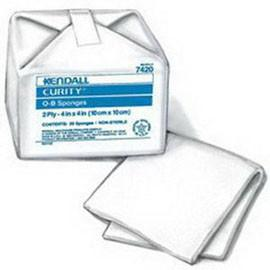"Curity Non Sterile O-B Sponge 4"" L x 4"" W - Pack of 100 - Total Diabetes Supply"
