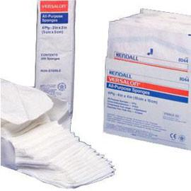 "Kendall Healthcare Versalon Sterile Non Woven Sponge, 4 Ply, Sterile, 10s, 4"" x 4"" - Pack of 10 - Total Diabetes Supply"