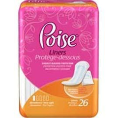 "Kimberly Clark Poise Pantyliners Very Light Absorbency, Discreet Protection 7-1/2"" - One pkg of 26 each - Total Diabetes Supply"