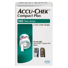 Accu-Chek Test Strips Compact Plus - 102 ct. - Total Diabetes Supply