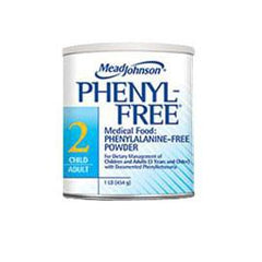 Mead Johnson Phenyl-Free 2 Metabolic Medlical Food Powder 1 lb Can