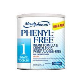 Phenyl-Free1 Powder 1 lb Can, Vanilla, 2280cal - Case of 6 - Total Diabetes Supply