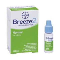 Bayer Breeze 2 Control Solution - Normal - 2.5ml - Total Diabetes Supply