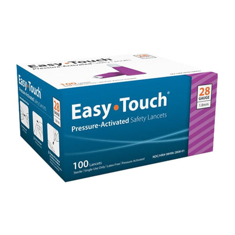 EasyTouch Pressure Activated  Safety Lancets 28G - 100 ct. - Total Diabetes Supply