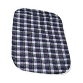 "Salk Company CareFor Deluxe Designer Print Reusable Underpad 23"" x 36"", Green Plaid Printed Top Sheet, Latex-free - One each - Total Diabetes Supply"