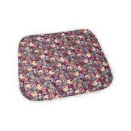 "Salk Company CareFor Deluxe Designer Print Reusable Chair Pad 17"" x 17"", Floral Print Printed Top Sheet, Three-Layer Construction, Anti-Fungal Finish - Total Diabetes Supply"