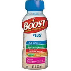 Boost Plus Nutritional Energy Drink 8 oz, Creamy Strawberry, 360 Cal - Case of 24 - Total Diabetes Supply