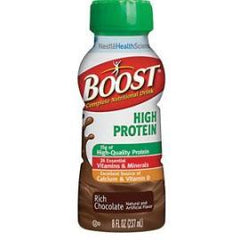 Boost High Protein Nutritional Energy Drink 8 oz, Rich Chocolate, 240 Cal - Case of 24 - Total Diabetes Supply