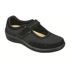 Chattanooga Women's Breathable Mesh Mary Jane - Two-way-strap - Diabetic Shoes - Black - Total Diabetes Supply