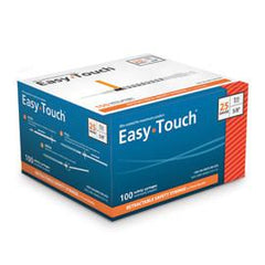 "EasyTouch Retractable Safety Syringe w/ Fixed Needle - 25 G - 1cc - 5/8"" - Total Diabetes Supply"