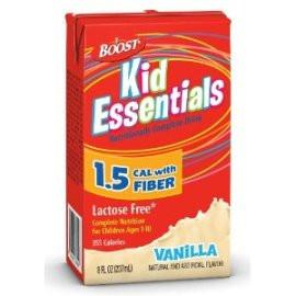 Nestle Healthcare Nutrition Boost Kid Essentials 1.5 Nutrition Vanilla Flavor with Fiber Drink 237mL - Lactose and Gluten Free - One 8oz container - Total Diabetes Supply