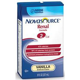Nestle Healthcare Nutrition Novasource Renal Nutritional Support Vanilla Flavor Liquid 8oz Brik Pak - Total Diabetes Supply