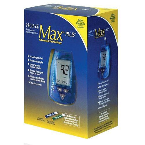 NovaMax Plus Glucose Meter - Total Diabetes Supply