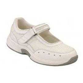 Bristol Women's Athletic Mary Jane - Two-way-Strap - Diabetic Shoes - White - Total Diabetes Supply