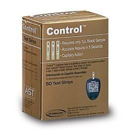 Control AST Glucose Test Strips - 50 ct. - Total Diabetes Supply