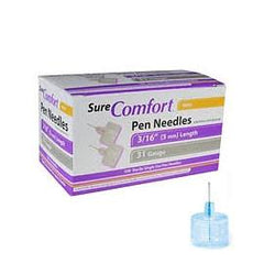 "SureComfort Mini Pen Needles - 31G 3/16""  - BX 100 - Total Diabetes Supply"