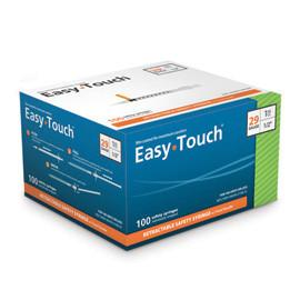 "EasyTouch Retractable Insulin Safety Syringe w/ Fixed Needle - 29 G - 1cc - 1/2"" - Total Diabetes Supply"
