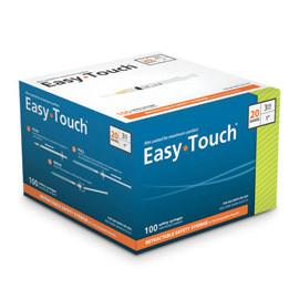 "EasyTouch Retractable Safety Syringe w/ Exchangeable Needle - 20 G - 3cc - 1"" - Total Diabetes Supply"