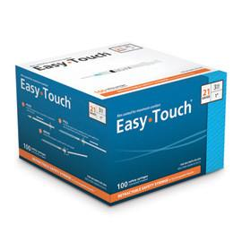 EasyTouch Retractable Safety Syringe w/ Exchangeable Needle - 21 G - 3cc - 1""