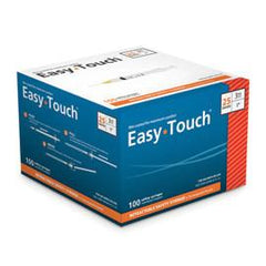 "EasyTouch Retractable Safety Syringe w/ Exchangeable Needle - 25 G - 3cc - 1"" - Total Diabetes Supply"