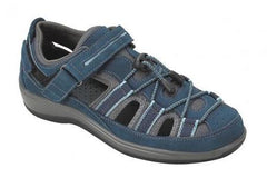 Naples Women's Two-way Strap Sandal - Diabetic Shoes - Navy
