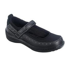 Chickasaw women's Mary Jane - Hook & Loop Strap - Ventilated - Diabetic Shoes - Navy - Total Diabetes Supply