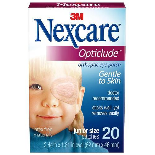 "3M Nexcare Opticlude Junior Orthoptic Eye Patch 2-1/2"" x 1-1/4"", Beige, Latex-free (20 pcs. per box)"